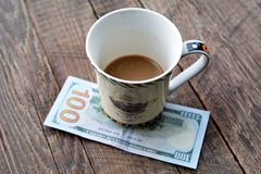 Expensive cup of coffee Stock Images