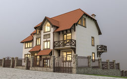 Expensive detached house Royalty Free Stock Photos