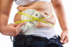 Expensive diet program Royalty Free Stock Images