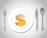 Expensive diner illustration design Stock Images