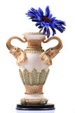 Expensive flower pot. With gerbera flower isolated on white background royalty free stock photos