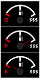 Expensive fuel. Fuel prices becoming very expensive Stock Photography
