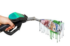Expensive fuel Royalty Free Stock Images
