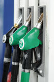 Expensive gas, fuel tanking. Image of fuel pump at gas station Stock Photography