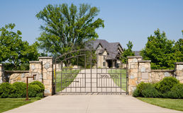 Expensive Gated Home Stock Photography