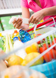 Expensive grocery bills Stock Photography