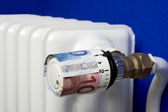 Expensive heating costs Royalty Free Stock Photos