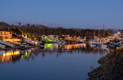 Expensive homes and boats ventura Stock Images