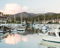 Expensive homes and boats ventura Royalty Free Stock Images