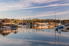 Expensive homes and boats ventura Stock Photo