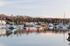 Expensive homes and boats ventura stock photography