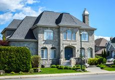 Expensive homes. In Montreal, Canada stock photo