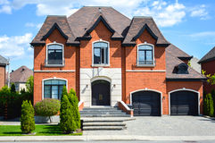 Expensive homes. In Montreal, Canada royalty free stock image