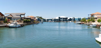 Expensive houses near the canals in Mandurah stock images