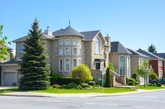 Expensive houses in summer, Montreal. Expensive houses in summer, Montreal, Canada Stock Photography