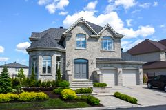Expensive houses in summer, Montreal. Expensive houses in summer, Montreal, Canada Royalty Free Stock Images