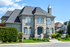Expensive houses in summer, Montreal. Expensive houses in summer, Montreal, Canada Royalty Free Stock Image