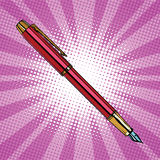 Expensive ink pen business accessory Royalty Free Stock Images