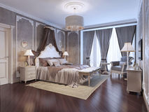 Expensive interior of bohemian bedroom Royalty Free Stock Image
