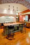 Expensive kitchen remodel. Expensive tuscan style kitchen remodel stock photo