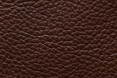 Expensive leather texture in saturated brown colour. High resolution photo Royalty Free Stock Photography