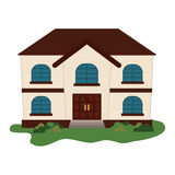 Expensive looking family house icon image Royalty Free Stock Image
