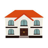 Expensive looking family house icon image Royalty Free Stock Photos