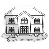 Expensive looking house icon image. Vector illustration design Stock Image