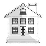 Expensive looking house icon image. Vector illustration design Royalty Free Stock Photo