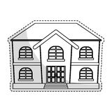 Expensive looking house icon image. Vector illustration design Stock Images