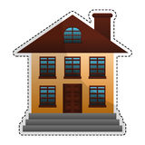 Expensive looking house icon image. Vector illustration design Stock Photo