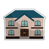 Expensive looking house icon image. Vector illustration design Royalty Free Stock Images