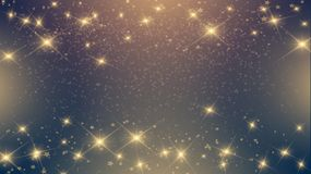 Shiny stars on dark background. Expensive luxury shiny stars on dark background for the holidays, new year, Christmas Royalty Free Stock Photography