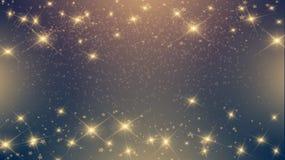 Shiny stars on dark background. Expensive luxury shiny stars on dark background for the holidays, new year, Christmas Stock Illustration