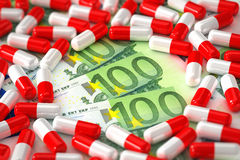 Expensive medication concept Stock Images