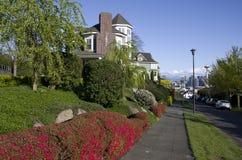 Expensive neighborhood rich people stock photography