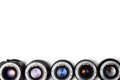 Expensive photographic lenses. The dream of every professional photographer Royalty Free Stock Image