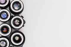 Expensive photographic lenses. The dream of every professional photographer Royalty Free Stock Photo