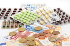 Expensive pills Royalty Free Stock Photography
