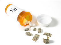 Expensive pills Royalty Free Stock Image