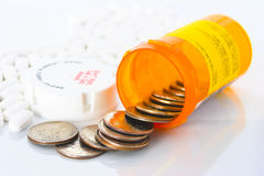 Expensive prescription drugs. Royalty Free Stock Photography