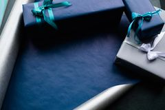 Expensive present for rich men on dark background stock photography