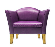 Expensive purple leather armchair Stock Images