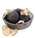 Expensive rare black truffle mushroom Stock Images