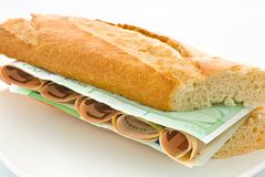 Expensive sandwich Royalty Free Stock Images