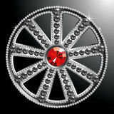 Expensive silver diamond wheel Royalty Free Stock Photography