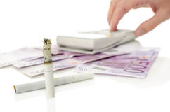 Expensive smoking habit Stock Photo