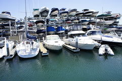 Expensive Speedboats. The Most Affordable Speedboats ever is for Sell to anyone who can afford to buy one at the New Port Beach, CA Royalty Free Stock Photo