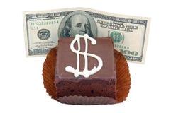 Expensive sponge-cake!. Expensive sponge-cake, one hundred dollars Stock Images