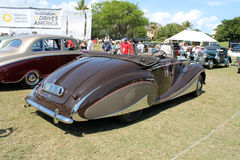 Expensive swoopy antique car Royalty Free Stock Images